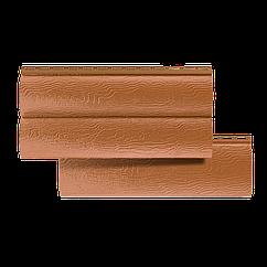 Сайдинг под сруб Альта-профиль блок хаус, однопереломный, цвет дуб светлый (акриловый)