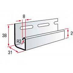 "Планка J-trim ""BlockHouse SLIM"" (БлокХаус СЛИМ) 3,66 м"