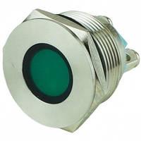 Индикатор ЛЕД металл 22мм 220В зеленый IP67