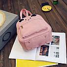 Набор рюкзак с ушками Мышка с кошельком Topshine розовый (466), фото 2