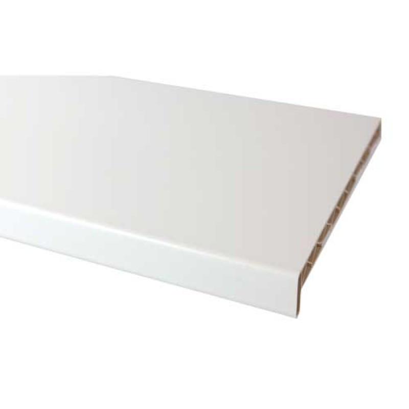 Подоконник ПВХ Brilliant (Брилиант) белый 200 - 600 мм