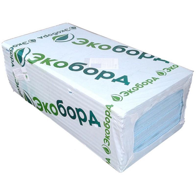 Экструдированный пенополистирол Экоборд 1200x600x30 мм