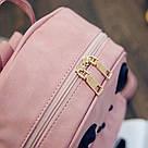 Набор рюкзак с ушками Мышка с кошельком Topshine розовый (466), фото 3