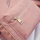 Набор рюкзак с ушками Мышка с кошельком Topshine розовый (466), фото 5