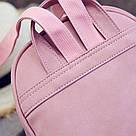 Набор рюкзак с ушками Мышка с кошельком Topshine розовый (466), фото 6