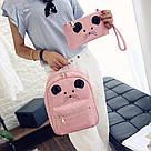 Набор рюкзак с ушками Мышка с кошельком Topshine розовый (466), фото 7
