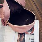 Набор рюкзак с ушками Мышка с кошельком Topshine розовый (466), фото 8