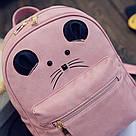 Набор рюкзак с ушками Мышка с кошельком Topshine розовый (466), фото 10