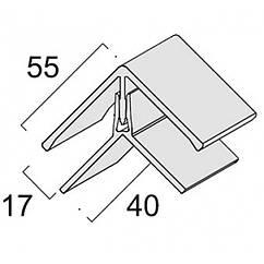 Угол универсальный двухэлементный KerraFront (КерраФронт) FS-222 Серебристо-серый
