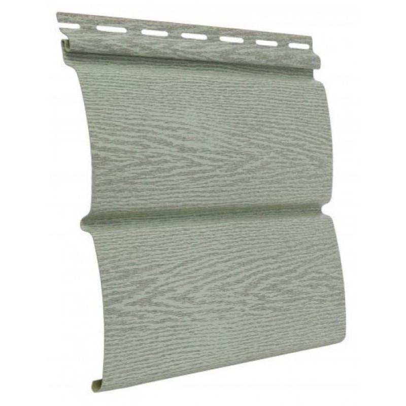 Виниловый сайдинг Ю-пласт timberblock Ясень прованс зеленый