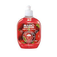 """Крем-мыло """"Марио"""" 0,3л.пуш-пул Клубника (24шт. / Уп.)"""
