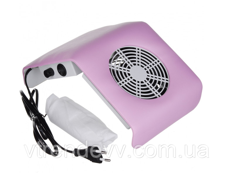 Вытяжка для маникюра Nail Dust Collector 30 W Розовый