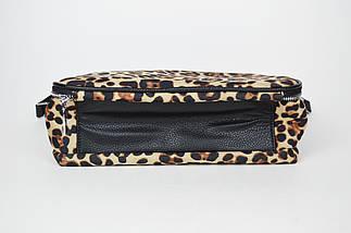 Сумка леопардовая женская Valensiy 7047 с 3 отделениями, фото 2