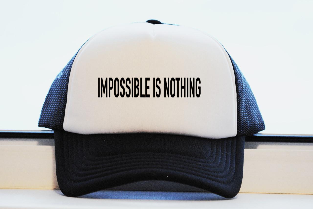 Кепка Impossible is nothing принт как оригинал реплика