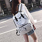 Мраморный рюкзак для девочки Mojoyce белый.(AV169), фото 3