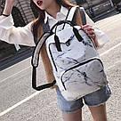 Мраморный рюкзак для девочки Mojoyce белый.(AV169), фото 5