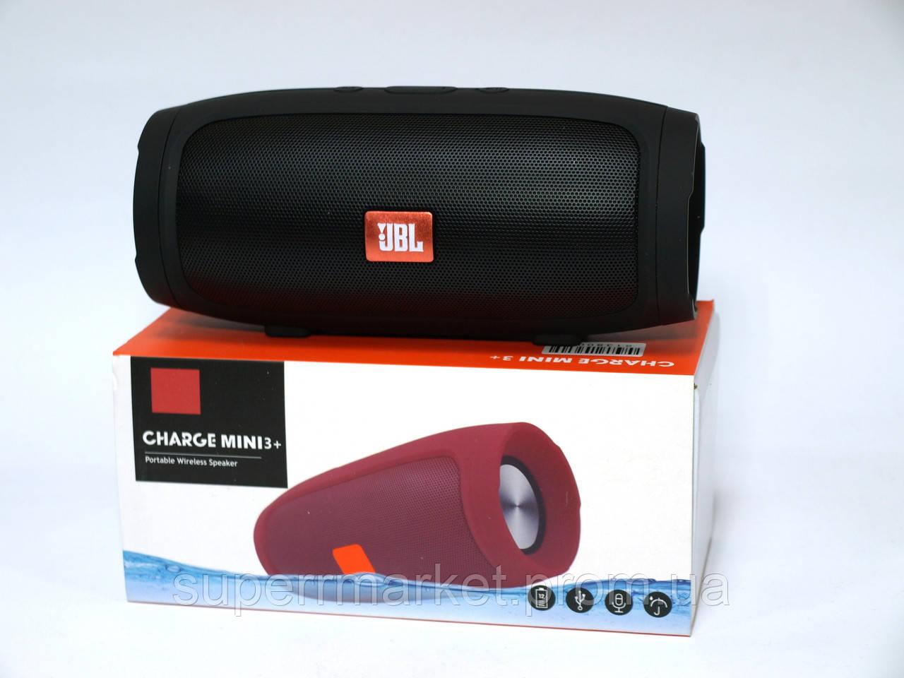 JBL Charge mini 3+ J007 6W копия, портативная колонка с Bluetooth FM MP3, черная