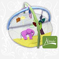 """Коврик игровой """"Слон"""" с дугами и подвесными игрушками"""
