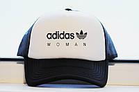 Кепка женская Adidas Woman принт уникальный реплика, фото 1