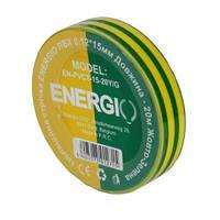 Изолента ПВХ 0,12ммх15ммх20м желто-зеленая
