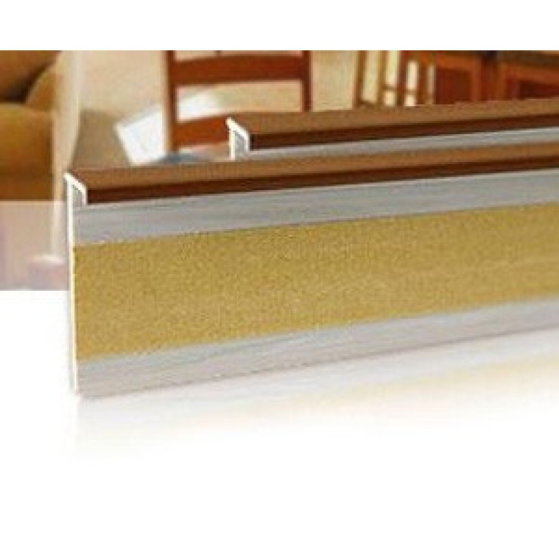 Плинтус для ковролина Salag (Салаг) 161, цвет 57 светло-коричневый