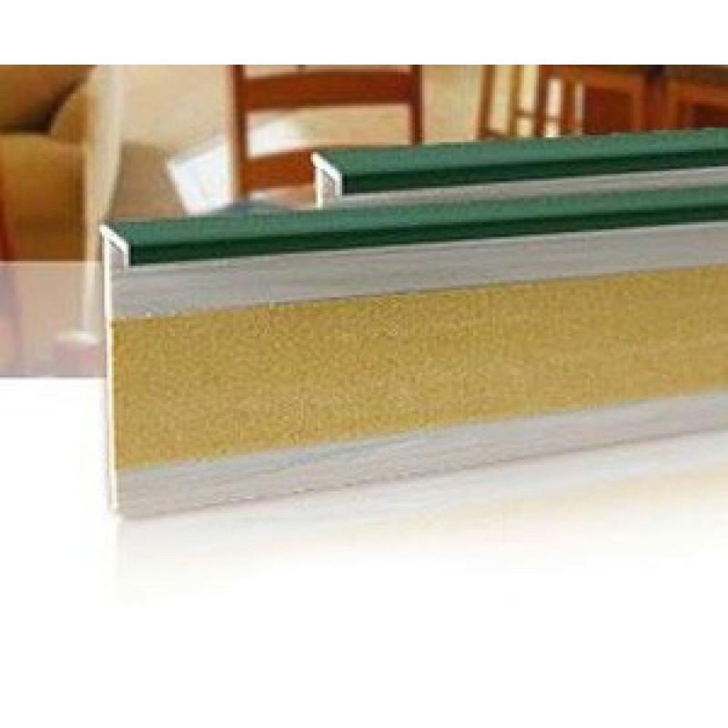 Плинтус для ковролина Salag (Салаг) 161, цвет 52 зеленый
