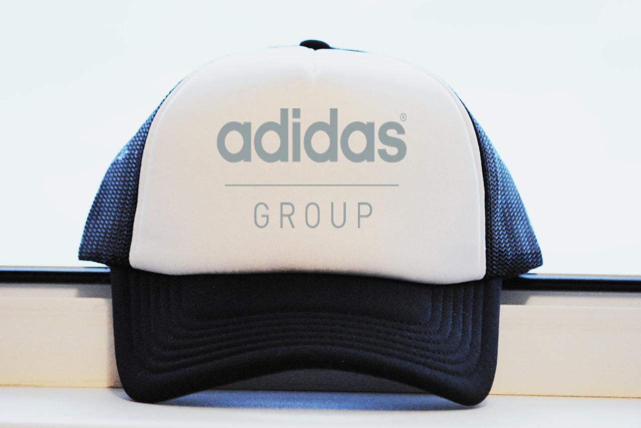 Кепка тракер Adidas Group принт как оригинал реплика