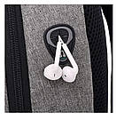 Рюкзак  для ноутбука с USB портом Aizhiyi тёмно серый (AV 167), фото 5