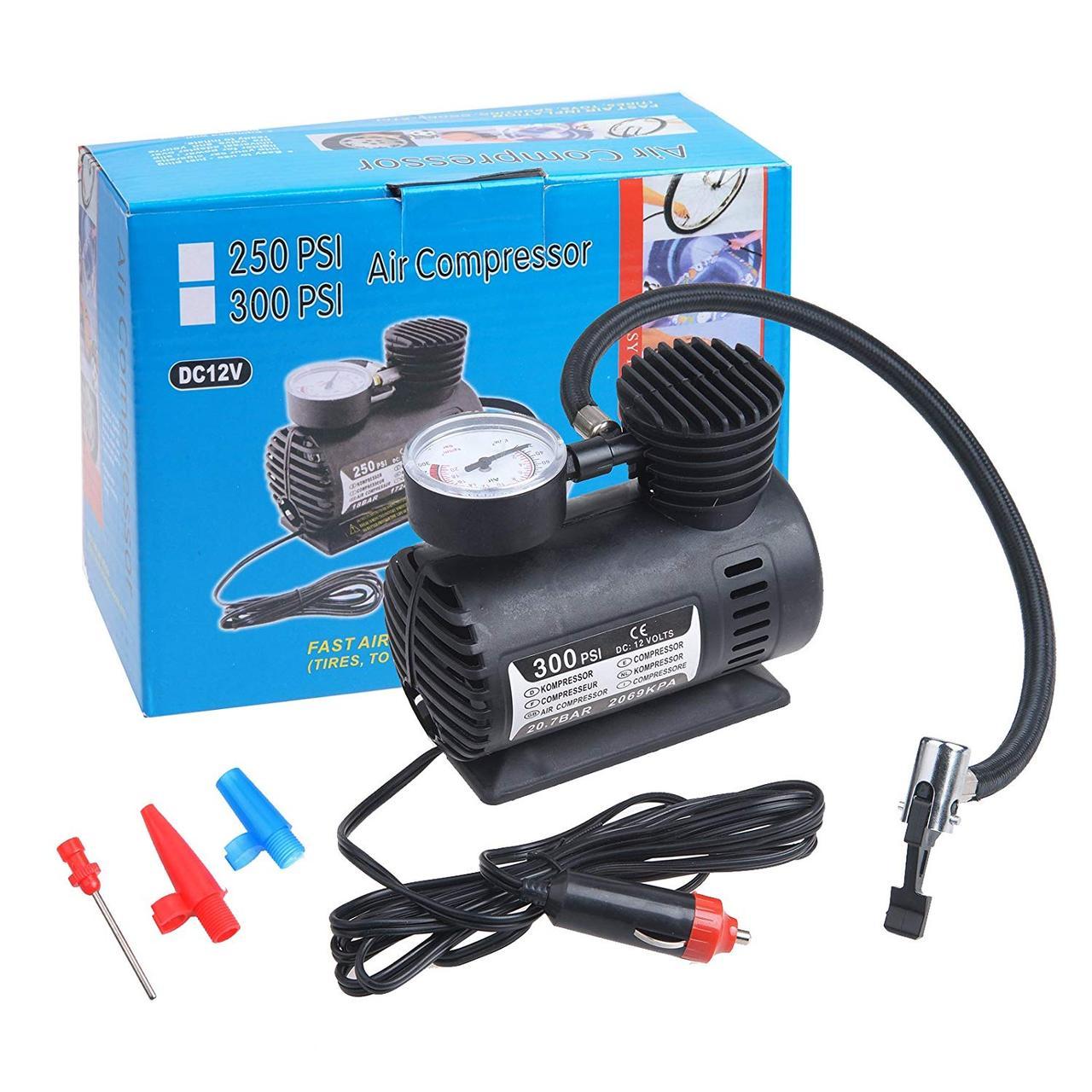 Автомобильный компрессор насос Air Compressor DC12V 250 PSI