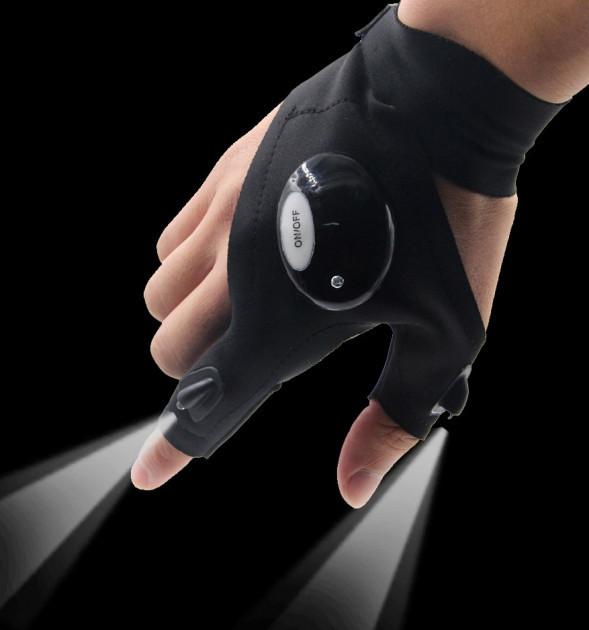 Перчатка-фонарик Glovelite для ремонта и рыбалки