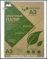 Крафт бумага Формат А3, 250 листов,Плотность 100 г/м2