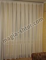 Тюль лен полоса, фото 1