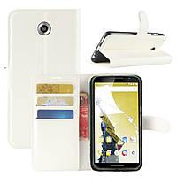 Чехол-книжка Litchie Wallet для Motorola Nexus 6 XT1103 Белый