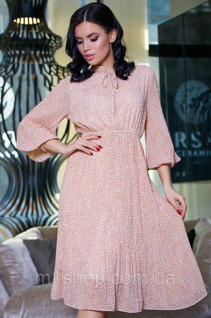 Женское шифоновое расклешенное платье (3420-3411-3419 svt)