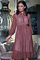Женское шифоновое расклешенное платье (3420-3411-3419 svt), фото 3