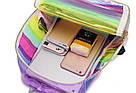 Прозрачный рюкзак в полоску Enjoinin серебро (AV118), фото 10