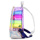 Прозрачный рюкзак в полоску Enjoinin серебро (AV118), фото 3