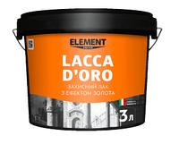 LACCA D'ORO ELEMENT DECOR 3л Защитный лак с эффектом золота
