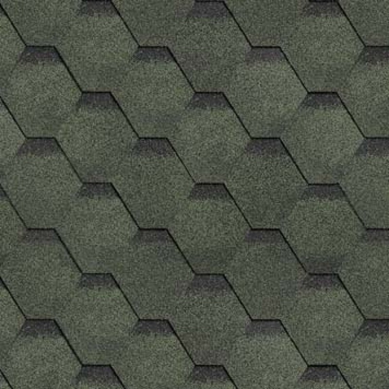 Битумная черепица Шинглас Roofmast Соната, зеленая