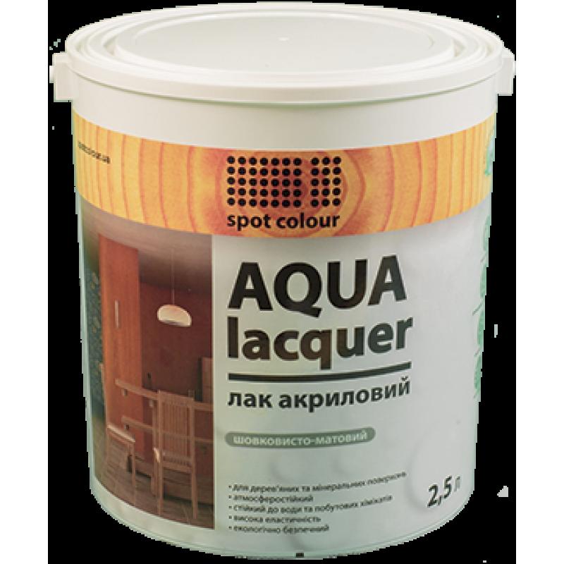 Универсальный полуглянцевый акриловый лак Aqua Lacquer