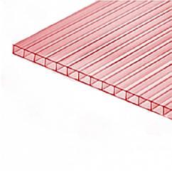 Сотовый поликарбонат Greenhouse Nano (Гринхаус Нано) 4 мм прозрачный с розовым оттенком