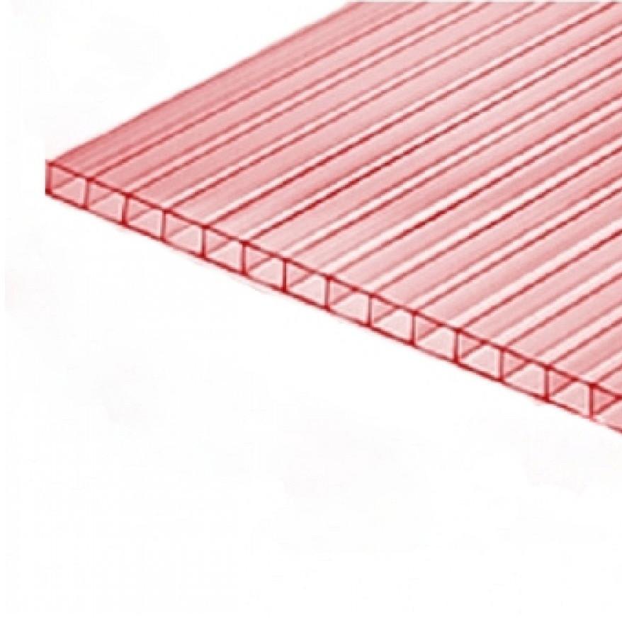 Сотовый поликарбонат Greenhouse Nano (Гринхаус Нано) 6 мм прозрачный с розовым оттенком