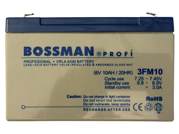 Аккум.для детских эл.мобилей Bossman-Profi 3FM10Е, фото 2