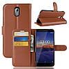 Чехол-книжка Litchie Wallet для Nokia 3.1 Коричневый