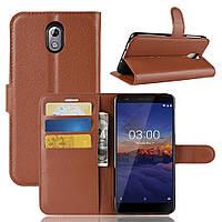 Чехол-книжка Litchie Wallet для Nokia 3.1 Коричневый, фото 1