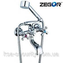 Смеситель для ванны ZEGOR DAK3-А827 (Зегор)