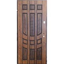 """Дверь входная """"Agnia"""" Дуб золотой Патина Темная"""