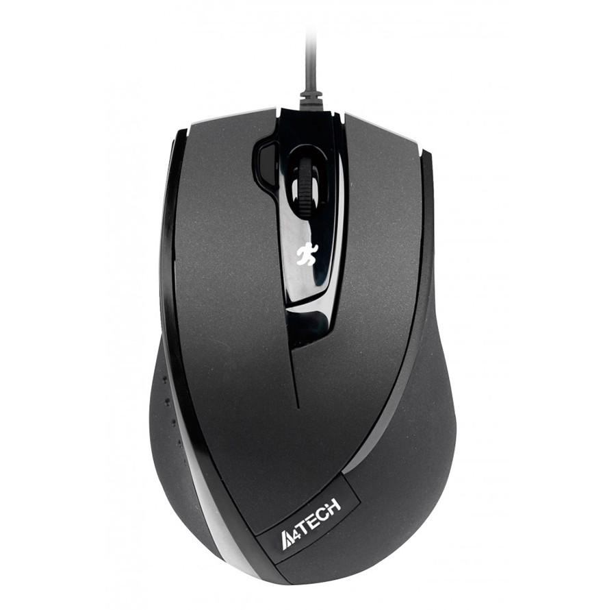 Мышь A4Tech N-600X-1 Black, V-TRACK, USB, 1600 dpi