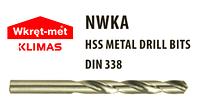 Сверло HSS по металлу din 338 2.5 мм. NWKA Wkret-Met, 10 шт.