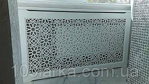 Экран (фасад) для батарей отопления из MDF, решетки декоративные R23-F60 Белый. Размер под заказ